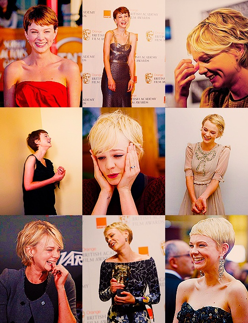 All these hairstyles. (Carey Mulligan)