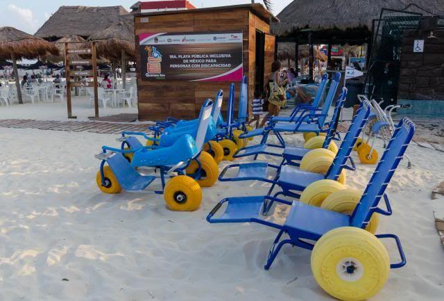 Handicap Access Beach Playa del Carmen