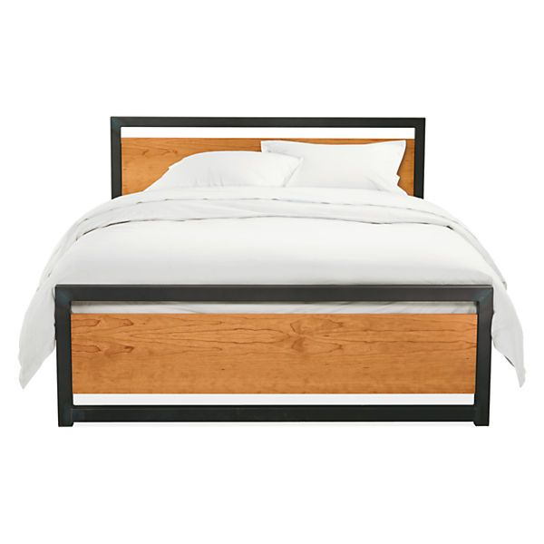 "Piper King Bed with Wood Panels - $1350 - 6630""sq - 78""w x 85""d x 36""h 11.5"" floor to slats"