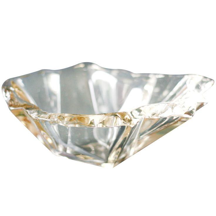 """Tapio Wirkkala's """"Jaansaro"""" or """"Iceblock"""" bowl # 3847 by Iittala  Finland  1950's"""