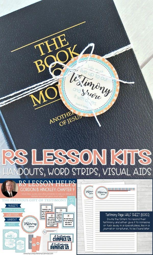 Relief Society Lesson Printables, Handouts, Visual Aides, Lesson Kits, ideas - Gordon B. Hinckley Manual #mycomputerismycanvas