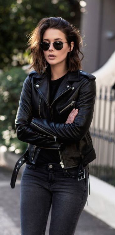 Best 25+ Black Leather Jackets Ideas On Pinterest | Womens Black Leather Jacket Leather Pants ...