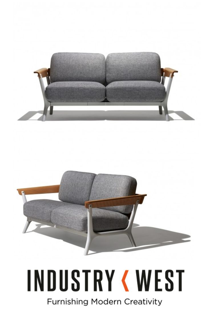 The Breeze Sofa is a contemporary, eclectic mix of materials and silhouette. The frame is consist of injection molded polypropylene plastic and features several solid wood elements. Hidden details on the back give the entire piece an eye catching quality. Stylish and one of kind, the Breeze Sofa is a breath of fresh air.