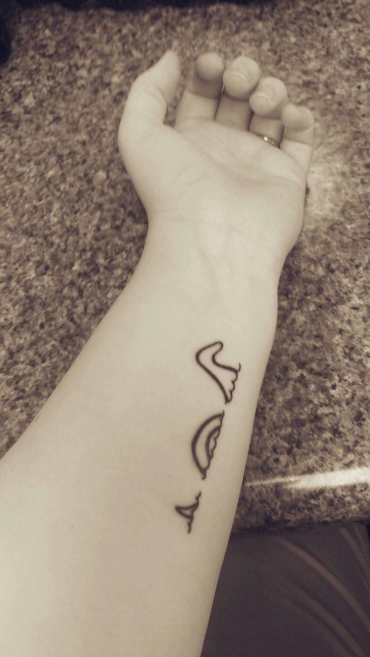 Loch Ness Monster. Drawn by Christena Painter, tattoo by Christian Perkins Augusta GA. #Celtic #tattoo #Nessie #loch #ness #line #drawing #micro #minimalist #silhouette #Scotland #Scottish