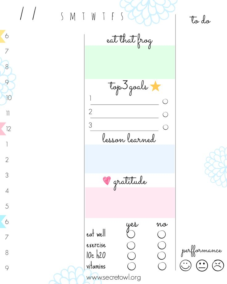 Best Printable Planners Images On   Calendar Planners