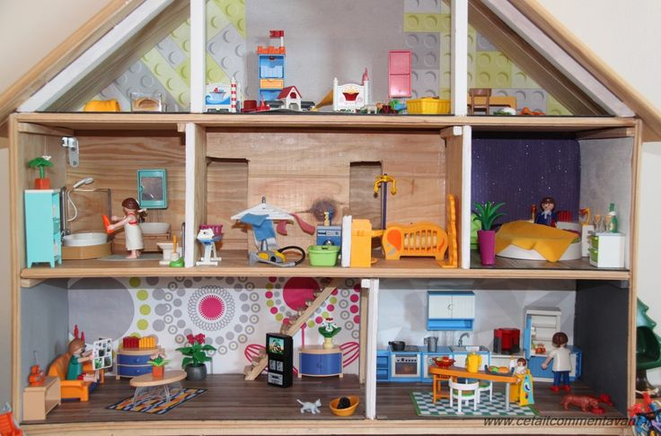 les 25 meilleures id es concernant maison playmobil sur. Black Bedroom Furniture Sets. Home Design Ideas