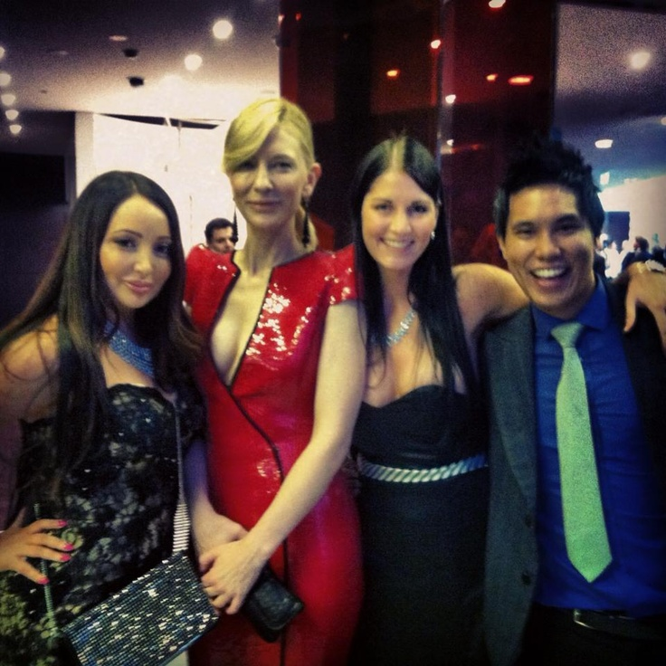 AACTA awards we ran into Cate Blanchett who looks so hot for 40!
