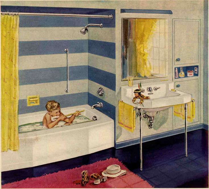 Blue And Pink Bathroom Designs 24 best pink bathrooms images on pinterest | retro bathrooms