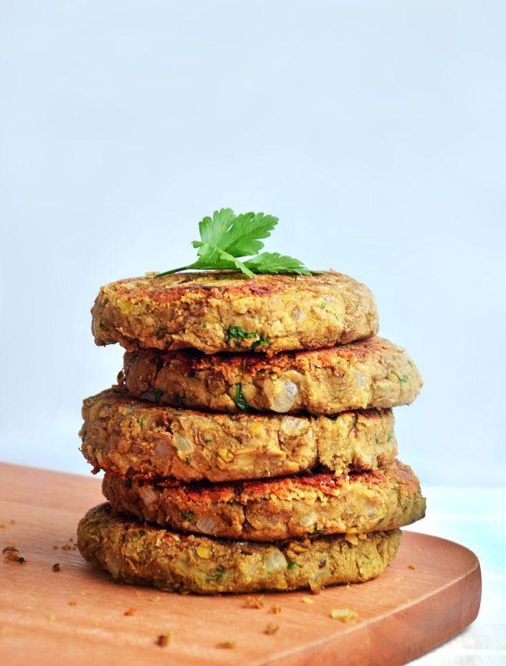 hamburger de lentilha e farinha de arroz (ou aveia ou grão de bico ou quinoa)