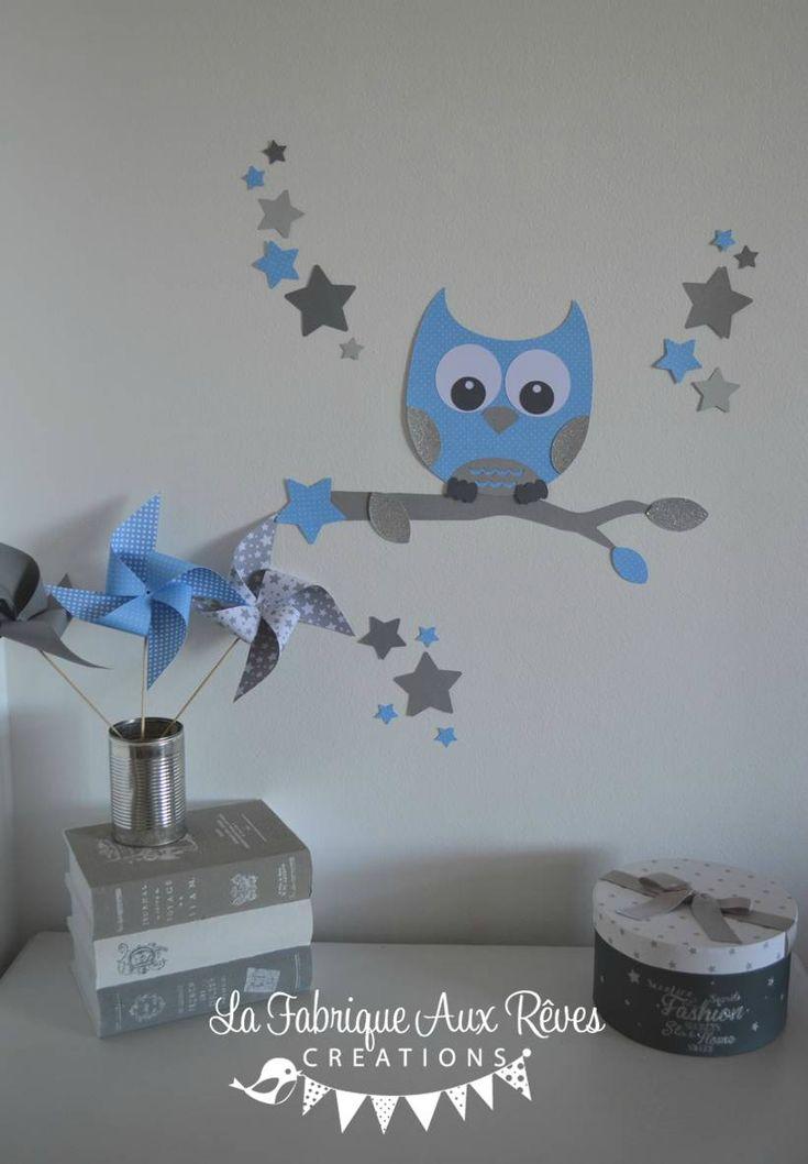 stickers décoration chambre enfant garçon bébé branche cage à ...