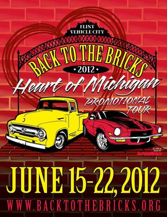 """Back The Bricks 2012 """"Heart of Michigan"""" Promotional Tour rolls in today from 1pm - 5pm!"""