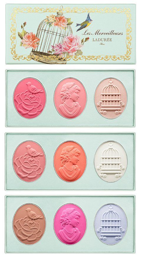 Les Merveilleuses de Ladurée Mini Face Colour Trio - Available in 101(coral, pink and nude), 102(pink, peach and white) 103(beige, fuchsia and lilac)