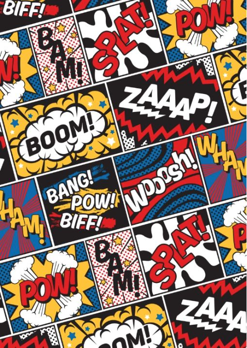 Modern Comic Book Superhero Pattern Color Colour Cartoon Lichtenstein Pop Art. From https://society6.com/product/modern-comic-book-superhero-pattern-color-colour-cartoon-lichtenstein-pop-art_print#1=45
