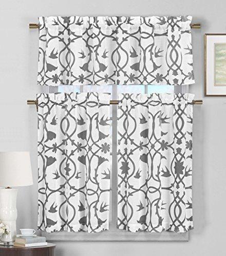 Duck River Rivietta Floral Linen 3 Piece Kitchen Curtain: 1000+ Ideas About 3 Window Curtains On Pinterest