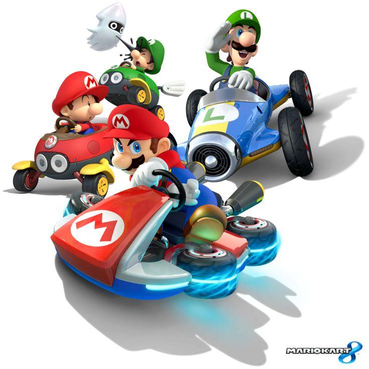 The Mario & Luigi team. Mario Kart 8