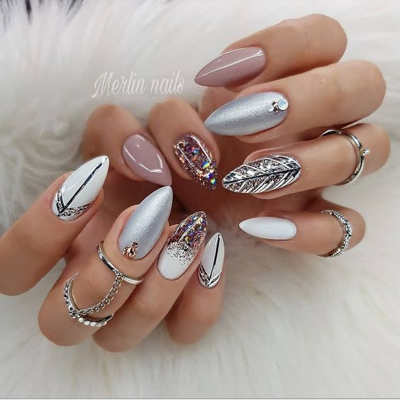 54 Unique And Beautiful Nail Designs To Try Now Stiletto Nail