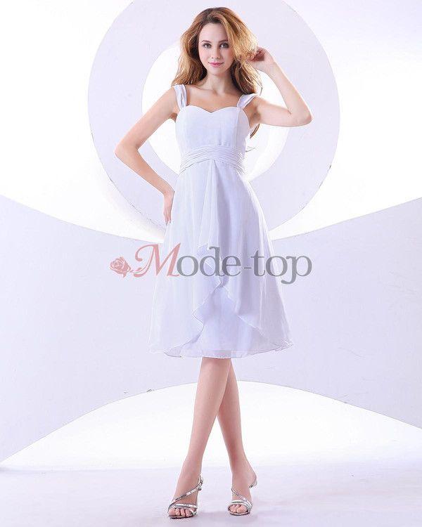 A-Linie Chiffon Abschlusskleid/ Brautjungfernkleid für Apfelförmige Figur - Mode-Top