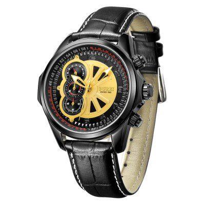 Llévalo por solo $297,200.Burei zafiro Espejo Hombres multifuncional deportivo reloj de cuarzo.