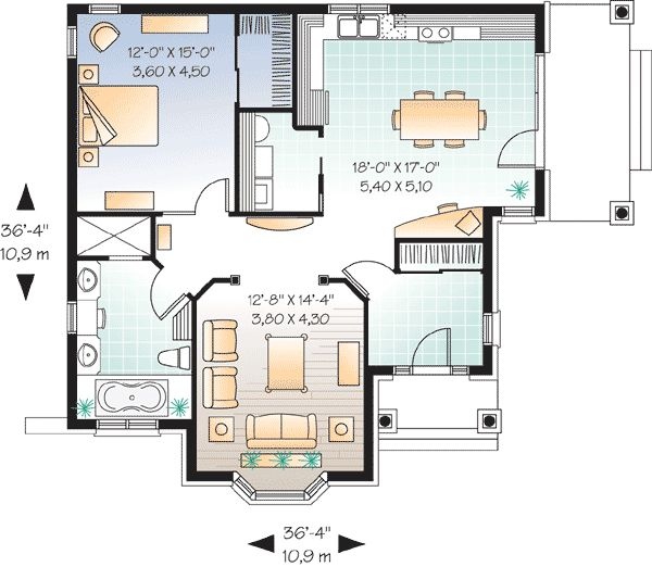 Best 20+ One Bedroom House Plans Ideas On Pinterest | One Bedroom House,  Tiny Home Floor Plans And Guest Cottage Plans