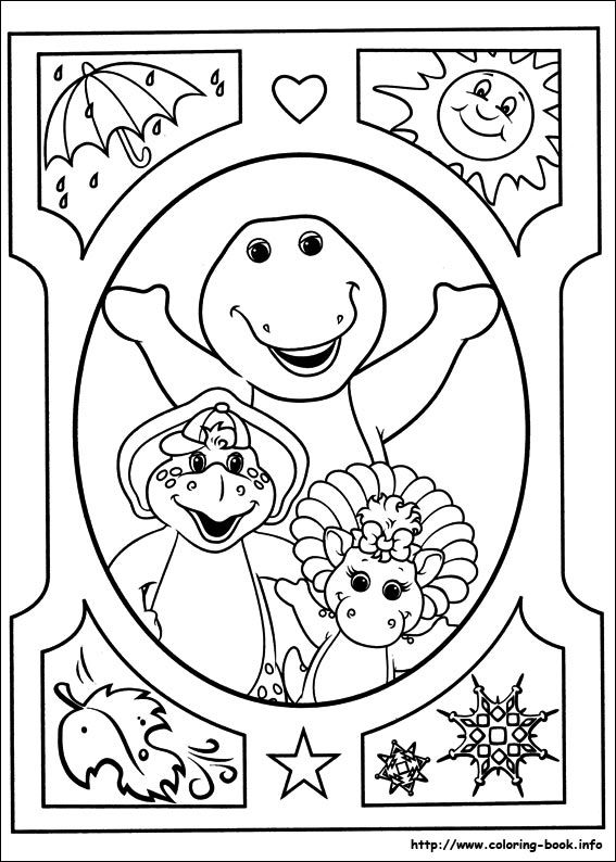 Good Barney Coloring Book 68 Barney and Friends coloring