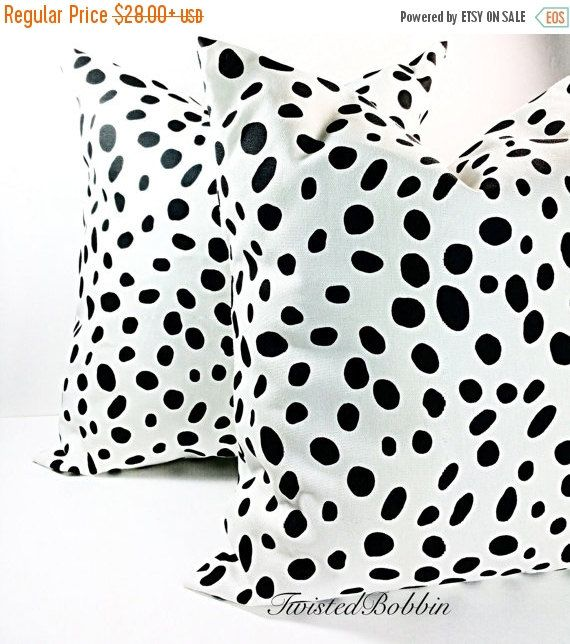 PILLOW SALE Animal print black & white by TwistedBobbinDesigns