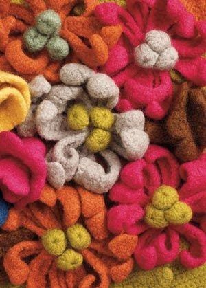 Crochet felted flower