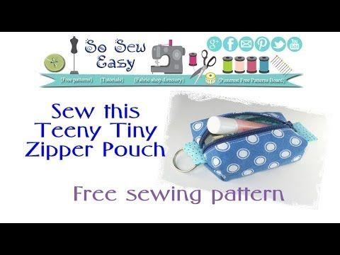 Teeny Tiny Mini Zipper Pouch Keyring - So Sew Easy
