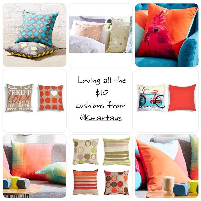 """""""Who else here are loving the $10 @kmartaus #cushions ? If you have already got some and want to share a photo you can by using #kmartausshare. #kmartaus…"""""""