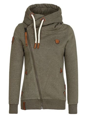 Sweater Weather Co. — Olive Women's Zipped Hoodie