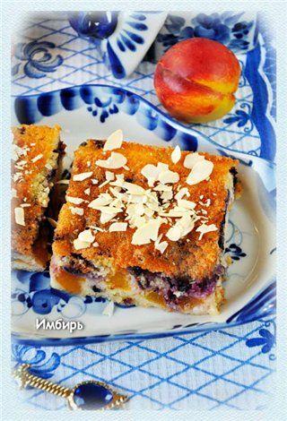 Пирог с черникой и нектаринами : Простые рецепты для вкусной жизни