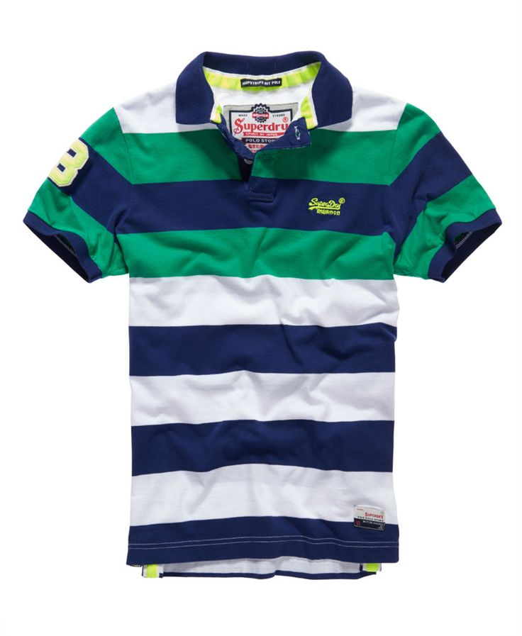 Mens - Double Stripe Hit Polo in Double Riviera Mix | Superdry