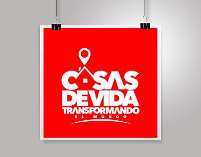 """LOGOTYPE """"CASAS DE VIDA"""" Transformando el Mundo"""