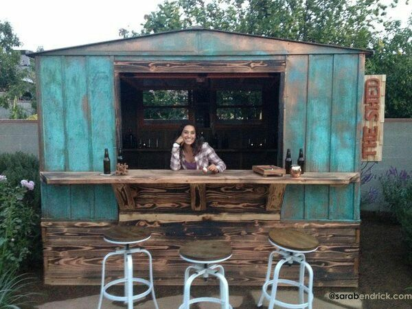 By sara bendrick, i started this project with a old metal shed.