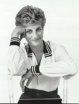 princess diana photo: Princess Diana Diana-In-Black--White6.jpg