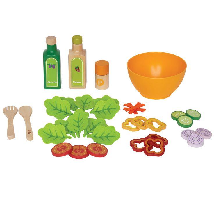 Set Von Hape Lebensmitteln Aus Holz Für Die Kinderküche. Ideal Zum Bewirten  Gesundheitsbewuster Gäste. Hape Küchenzubehör Bei Pirum Holzspielzeuge  Online ...