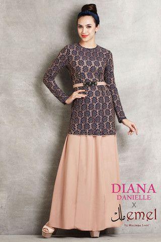Diana Danielle x emel - 2 Piece Lace Jubah