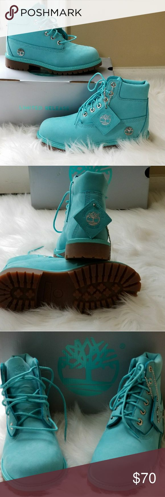 Limited ReleaseGirls Turquoise Timberlands Little Girls bright & Cute turquoise blue boots! Perfect for the Little Fashionista! Box included. Timberland Shoes Boots