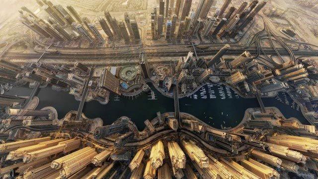 Foto aérea de Dubai