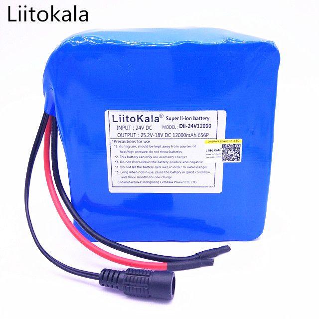 >> Click to Buy << HK 6S6P LiitoKala 24 v 12ah bateria DE litio DE 25.2 v 12ah bateria li-ion para la bateria DE la bicicleta 350 w e moto 250 w (s #Affiliate