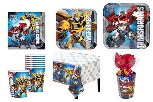 Transformers Party Supplies Standard Kit for 16 *Free Gift*