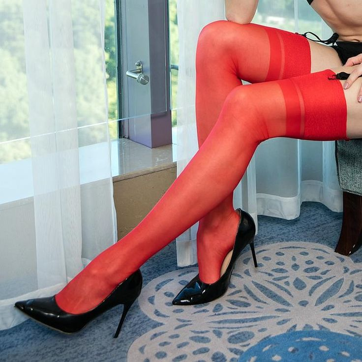 Stockings Transparent Silk. 15D Seamed