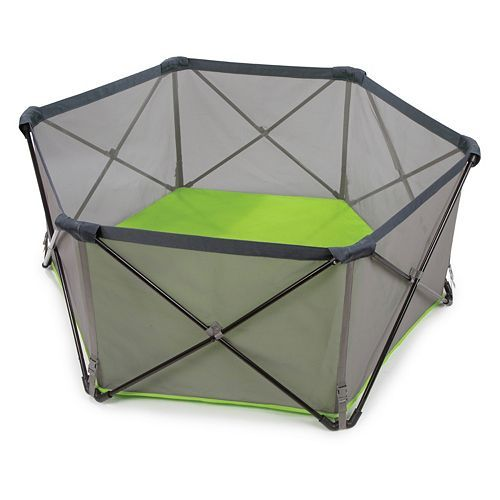 Summer Infant Pop 'N Play Portable Playard - We like this a lot for the yard.  It's not huge but big enough for him to play in and collapses into a tailgate chair type bag which is awesome.