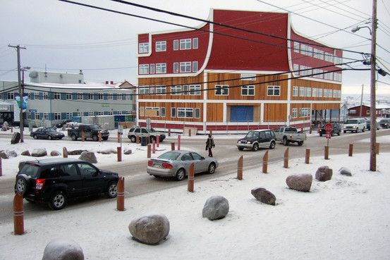Iqaluit, Nunavut - one of the banks...and offices, gift shop