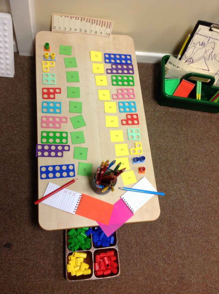 Numicon investigation area with mark-making