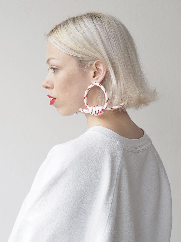 DIY knotted hoop earrings / Love Aesthetics