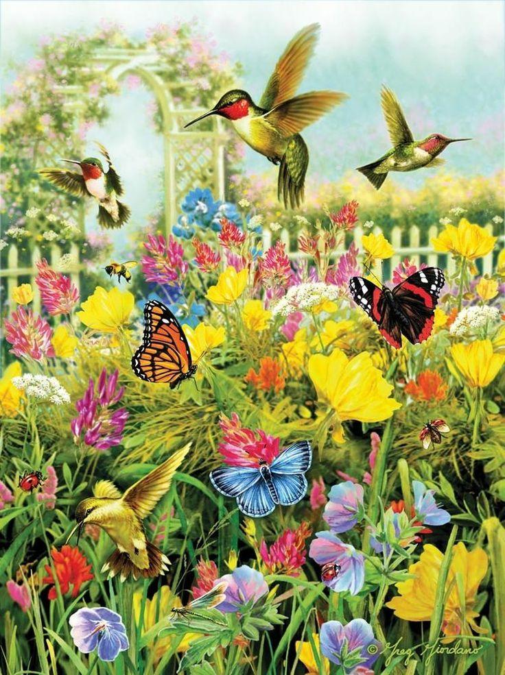 Alfa Img Showing gt Beautiful Flowers And Birds Jigsaw
