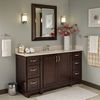 Shop VILLA BATH by RSI Sanabelle 18-in W x 81-in H x 21.5-in D Java Plywood Wall-Mount Linen Cabinet at Lowes.com