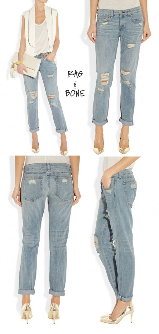Steal your boyfriend's look -- how to style the boyfriend jean for day & night.
