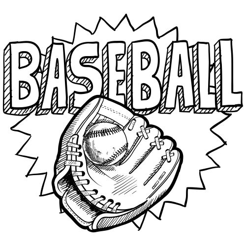 baseball coloring page - Sports Coloring Pages