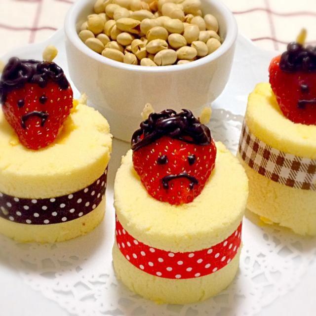 恵方巻き作ってたらロールケーキも作りたくなった♡ - 38件のもぐもぐ - ✢節分ロールケーキ✢ by *sasaco*